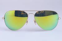 Женские солнцезащитные очки в стиле RAY BAN aviator large metal 112/68 LUX, фото 1