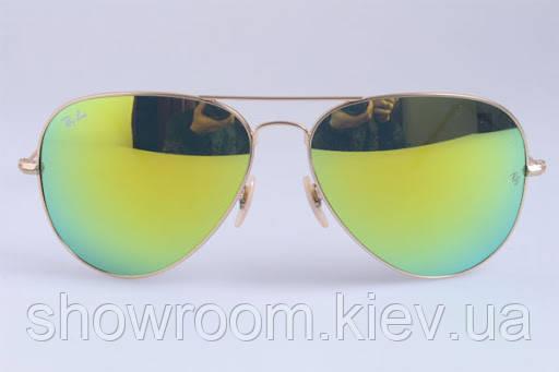 Женские солнцезащитные очки в стиле RAY BAN aviator large metal 112/68 LUX
