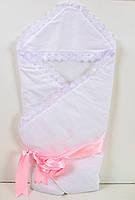 Теплое зимнее конверт-одеяло на выписку для новорожденных
