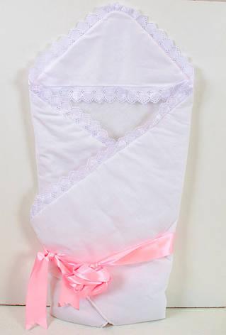 Теплий зимовий конверт-ковдру на виписку для новонароджених, фото 2