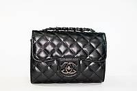 Сумка женская под Chanel черная стеганая классика