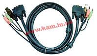 1.8 м. кабель/ шнур, Монитор (DVI-D Dual Link) +USB (Клавиатура+Мышь) +2 Звуковых Разъем (2L-7D02UD)