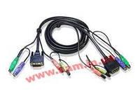 1.8 м. кабель/ шнур, монитор (DVI)+ клавиатура+мышь PS/ 2+2 х Audio (звук, микрофон) => м (2L-7D02P)