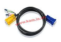 5 м. кабель/ шнур, 2 аудио (звук, микрофон) +монитор => SPHDB-15 (ПК: 1 х HDB-15 Male + 2 (2L-5205A)