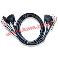 5.0 м. кабель/ шнур, Монитор (DVI-D Dual Link)+ USB (Клавиатура+Мышь) +2 Звуковых Разъем (2L-7D05UD)