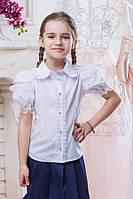 Школьная блузка для девочки sh11
