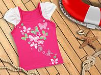 Яркая футболка с модным принтом для девочки (разные цвета)