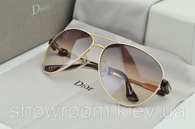 Женские солнцезащитные очки авиаторы Homme (бежевая оправа)