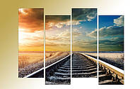 "Модульная картина ""Путь в никуда"". Фотокартина на холсте., фото 1"