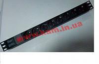 """Hypernet Фильтр сетевой алюмин. корпус 220В с выключателем 8 розеток без кабеля 19"""" (SPP8-WC)"""