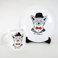 "Тарелка и чашка ""Рудий та неперевершений"""