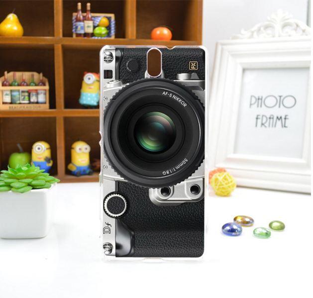 Силіконовий чохол бампер для Sony Xperia C5 / E5533 з картинкою фотоапарат