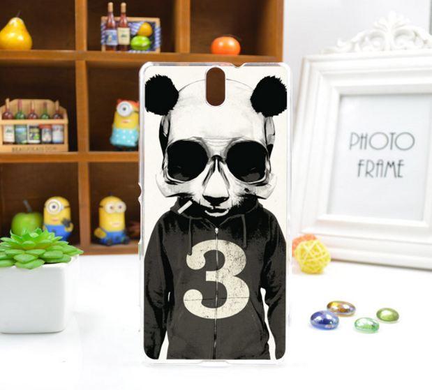 Силиконовый чехол бампер для Sony Xperia C5 / E5533 с картинкой панда