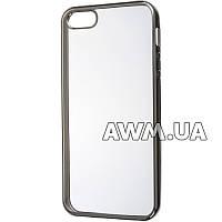 Силиконовый чехол Baseus Lustre Clear для Apple iPhone 5 / 5S стальной