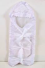 Конверт-одеяло на выписку для новорожденных с бантами