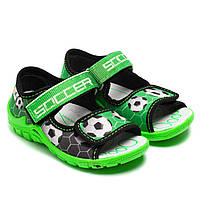 Текстильные сандалии 3F для мальчика, зеленые, размер 23-30