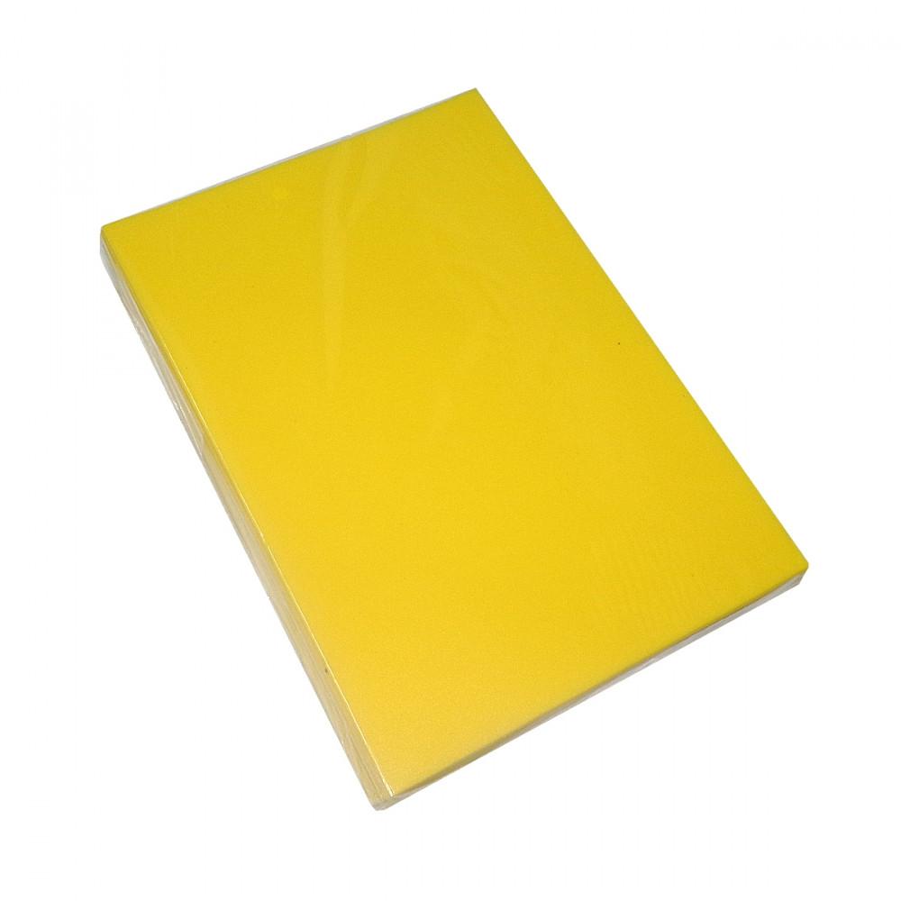 Обложки А4, 400 мк., Satin, жёлтые, 100 шт/упак.