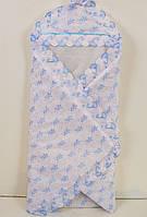 Конверт-одеяло на выписку для новорожденных с разноцветной вышивкой