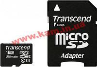 Карта памяти TRANSCEND microSDHC 16GB Class 10 UHS-I UltimateX600 + ad (TS16GUSDHC10U1)