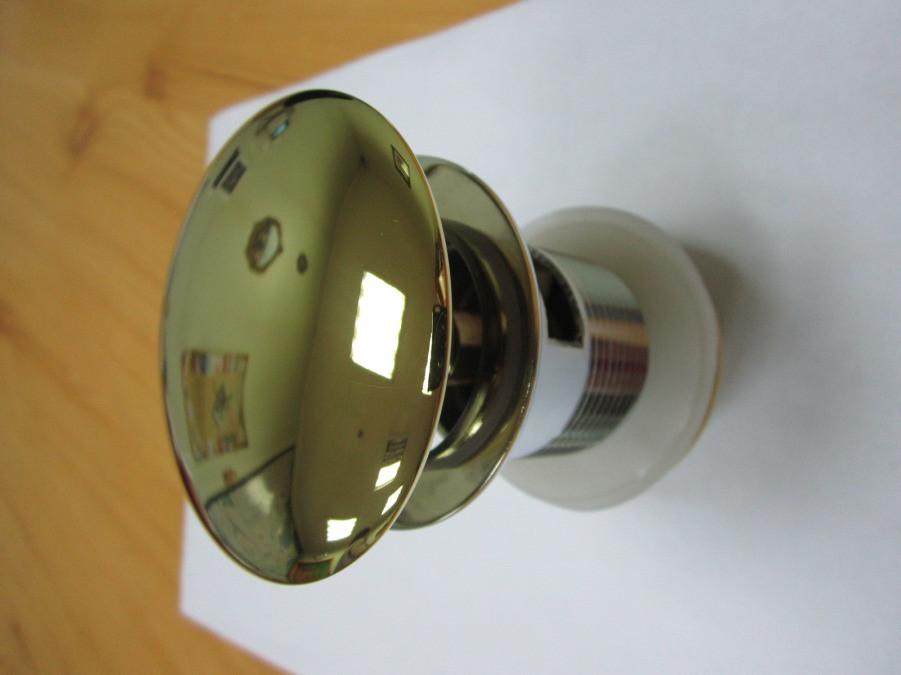 Донный клапан для умывальника - золото