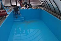 Укладка плёнки для бассейна