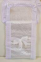 Конверт-одеяло на выписку для новорожденных с боковыми застежками