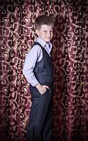 Темно - серая школьная форма на мальчика, фото 1