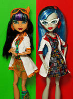 Набор кукол Монстер Хай Клео де Нил и Гулия Йелпс Ужасная наука Monster High Cleo de Nile Ghoulia Yelps