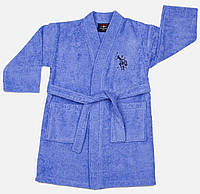 Детский махровый халат 5-6 лет U.S. Polo Assn USPA MAVI