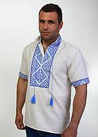 Вышитая мужская сорочка на лене