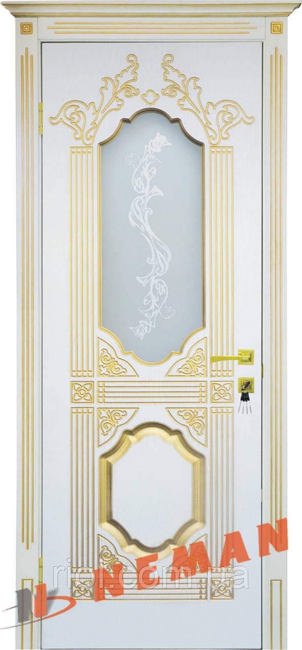 Дверь межкомнатная остекленная Корона серия Вип