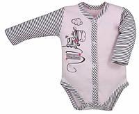 """Боди c длинным рукавом """"Zebra"""" цвет - розовый. 80 р"""