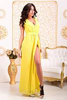 Платье, Золото шифон, ЛСН, фото 1
