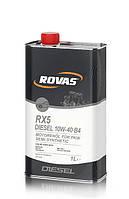 Моторное масло Rovas RX5 Diesel 10W-40 B4 (1л) для дизельных двигателей легковых автомобилей и микроавтобусов