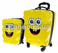 "1934 Набор Чемодан-рюкзак на 4-х колесах+рюкзак ""Spongebob"""