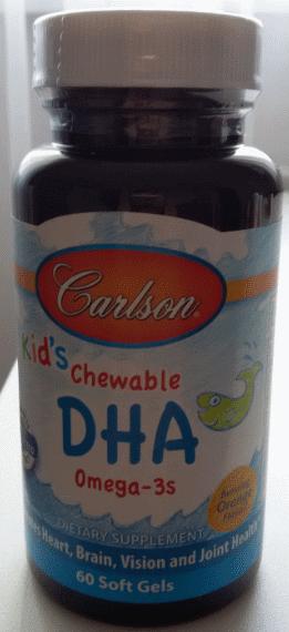 Дитячий риб'ячий жир в капсулах, Carlson, Kids Omega-3 Chewable DHA, Bursting Orange, 60 sgels