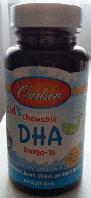 Детский рыбий жир в капсулах, Carlson,  Kids Omega-3 Chewable DHA, Bursting Orange, 60 sgels