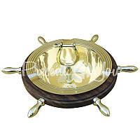 Морской сувенир пепельница Штурвал, d-15 см., Sea Club