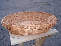 Тарелка поменьше овальная плетенная из лозы. Корзина для фруктов.