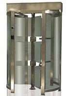 Турникет внутренний полноростовой однопроходный «Glass–GO» (сталь + стекло)