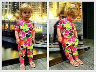 Детский стильный костюмчик для девочки: футболка и штаны ( расцветки)