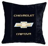 Подушка декоративная в авто с логотипом Chevrolet, фото 2