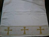 """Крыжма полотенце """"Крещение"""" махра с теснением и вышивкой"""