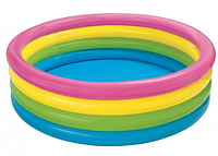 Бассейн надувной круглый Радуга 4 кольца, 335 л, Intex