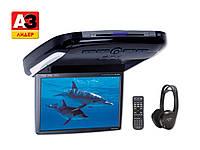 """Автомобильный монитор 10.2"""" с DVD-проигрывателем, комплект с ИК-наушниками (1пара)"""