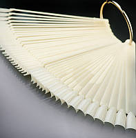 Палитра веер на кольце белая 50 шт