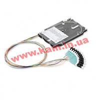 Комплект 12 кольрових пігтейлів LC/ UPC MM (OM3) та сплайс-касета стандартна з тримаче (SP12-03T-S8)