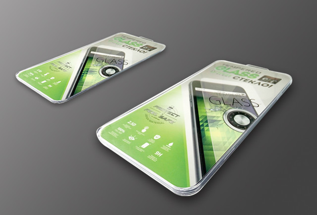 Защитное стекло Powerplant iPhone 5 поклейка