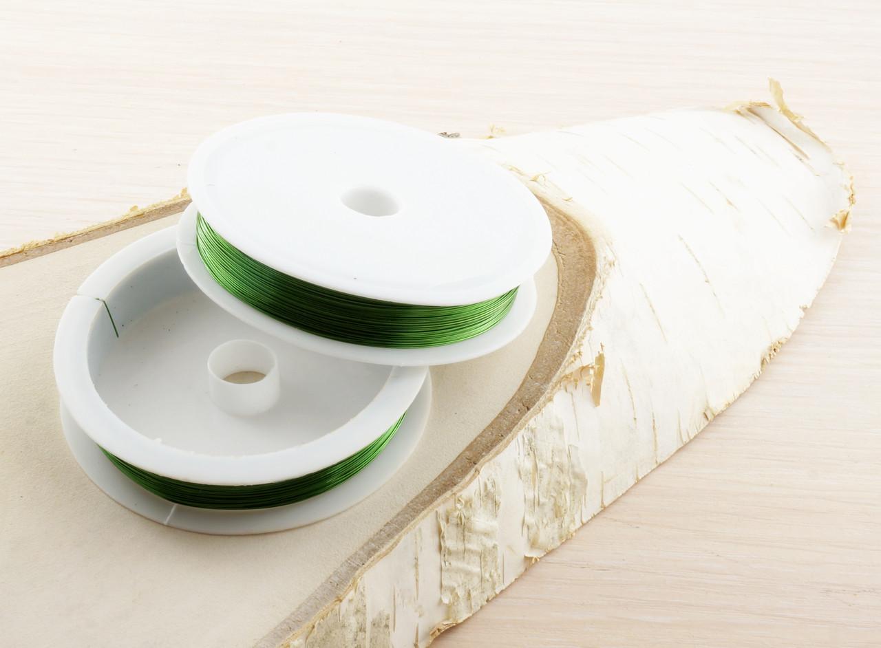 Проволока 0,3 мм - 26 м зеленая (товар при заказе от 200 грн) - магазин-студия Цацки в Чернигове