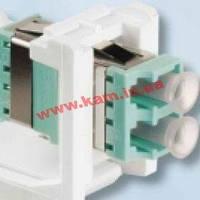 Модуль LANS LC Duplex ММ (OM3/ 4) для установки в розетку/ патч-панель, білий,Cornin (LANS-MOD-E4-W)